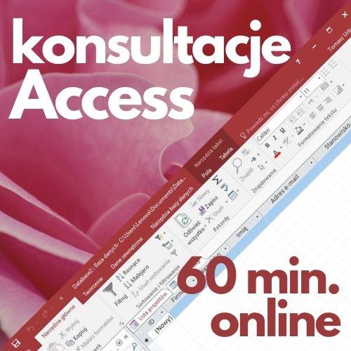 Konsultacje Microsoft Access (60 min. online)