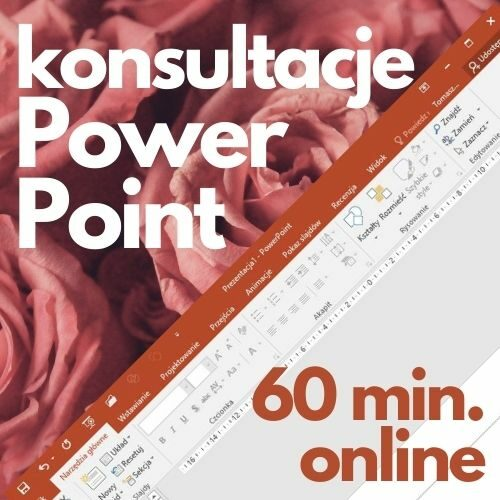 Konsultacje Microsoft PowerPoint (60 min. online)