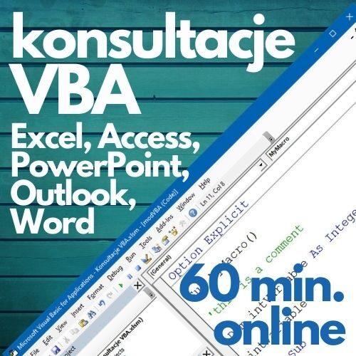Konsultacje online makra VBA (60 min.)