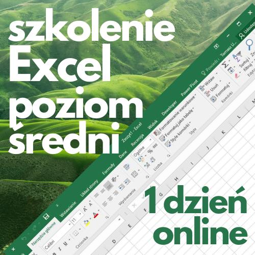 Szkolenie online Microsoft Excel średniozaawansowany (1 dzień)